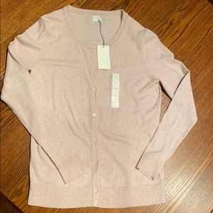 Dusty pink spring cardigan